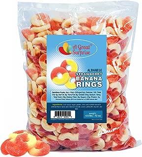 Gummy Rings – Strawberry Banana Gummy Rings – Bulk Gummy Rings – Orange Candy - Bulk Candy - 4.5 LB
