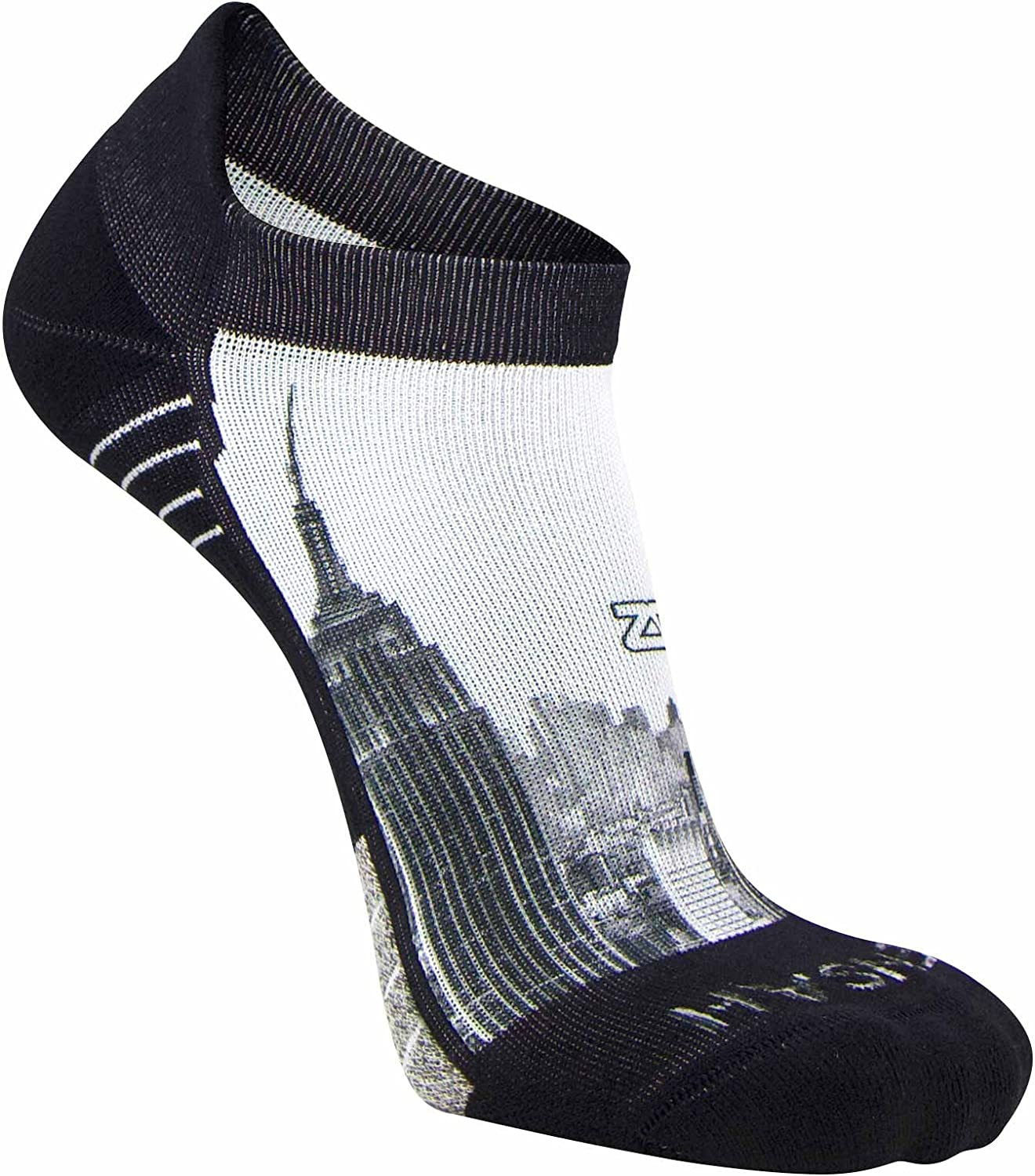 Zensah Limited Edition No-Show Running SocksAnti-Blister Comfortable Moisture Wicking Sport Socks for Men and Women (Large, NYC Empire State)