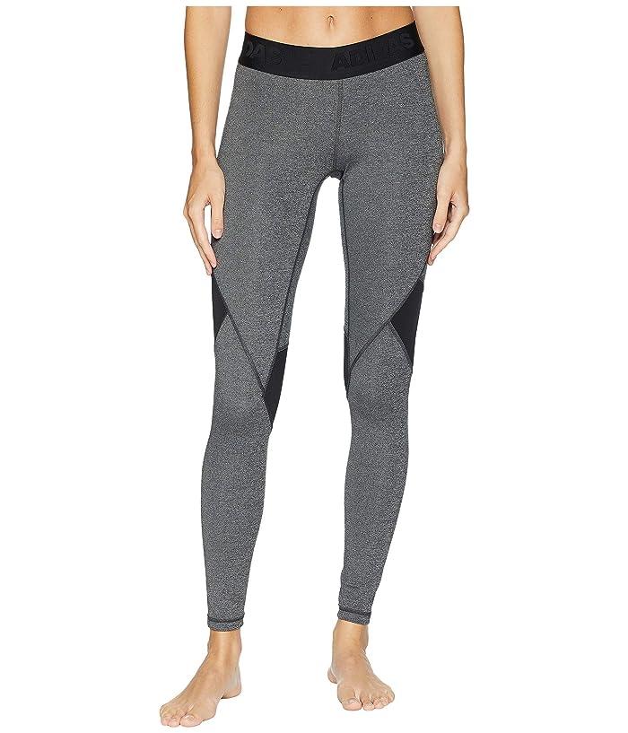 adidas Alphaskin Sport Long Tights (Dark Grey Heather/Black) Women