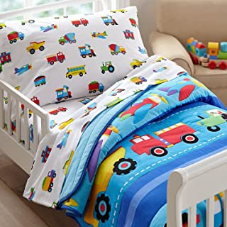Best olive kids trains planes trucks toddler sheet set Reviews