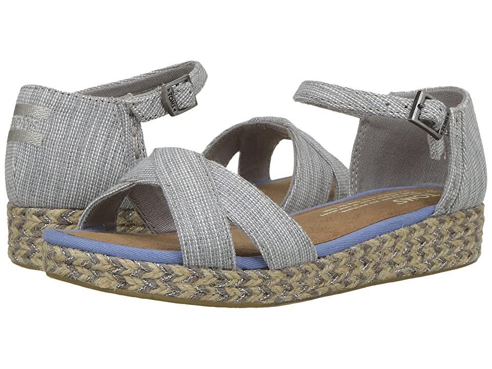 TOMS Kids Harper (Little Kid/Big Kid) (Drizzle Grey Textured Chambray) Girl