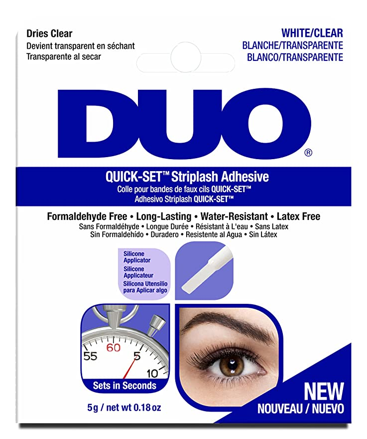 未接続政治家ミッションDUO Quick Set Adhesive - Clear - 5g / 0.18 oz
