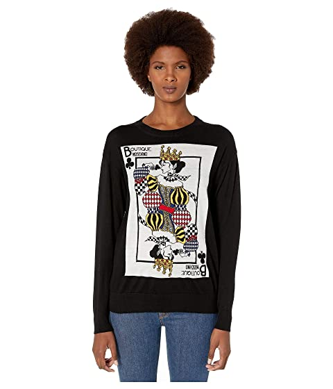 Boutique Moschino Card Print Sweater