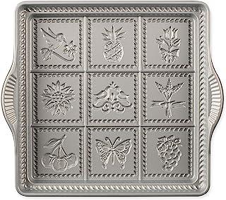 Nordic Ware 3237 English Shortbread Pan, 9x9 Inches, Non-stick