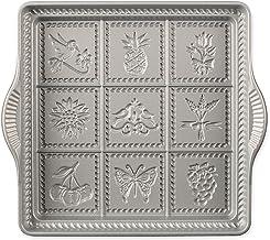 Nordic Ware Cast-Iron Aluminum English Shortbread Pan, Charcoal