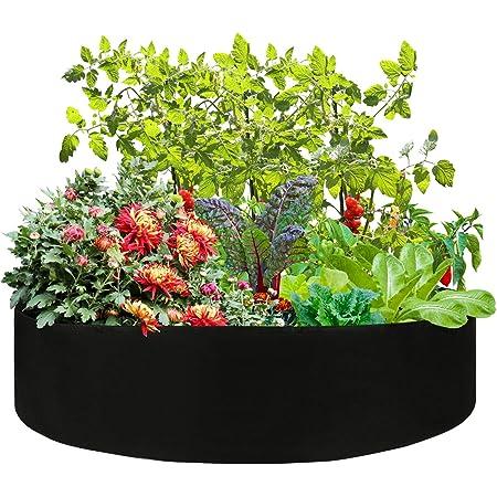 Grow Bags for Vegetables 50 * 20cm, Violet Jardini/ère Fleur jardini/ère sur/élev/ée bo/îte de legumes JXXH Elevated Garden
