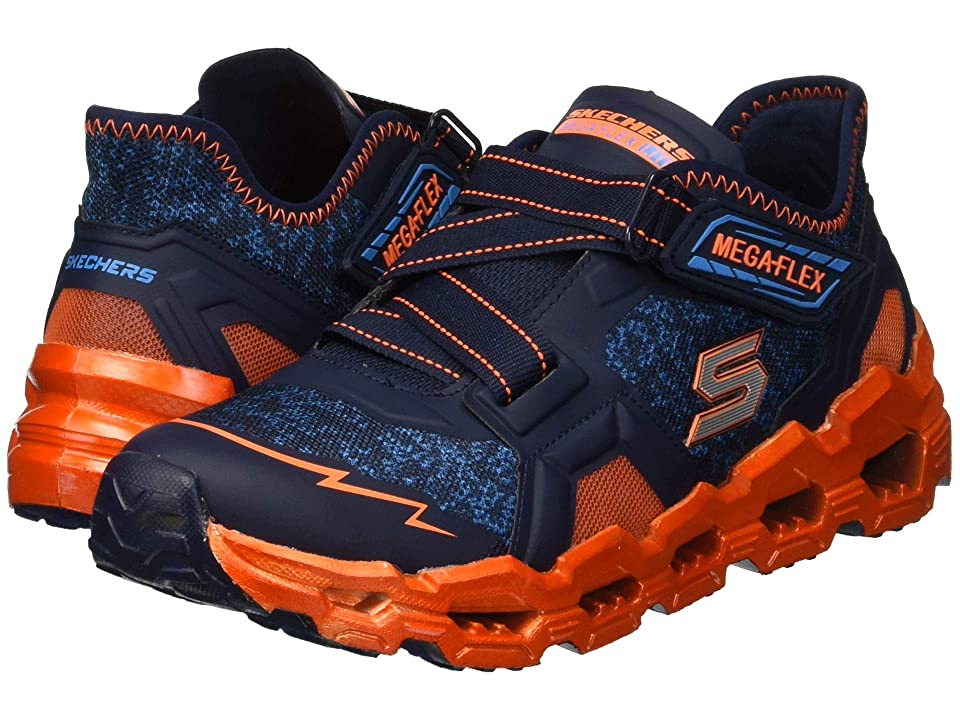 SKECHERS KIDS Mega-Flex Lite 2.0 Blast Fast 97566L (Little Kid/Big Kid) (Navy/Orange) Boy