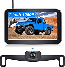 $129 » DoHonest V29 HD 1080P Digital Wireless Backup Camera 7'' Split Screen Monitor for Trucks,Cars,Campers,Vans, Observation Sy...