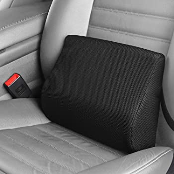 HIPCHAK Black - Fully Adhering Lumbar Support Pillow That Relieves Back Pain and Fatigue While Driving - Car Driver Seat Cushion - Anywhere with a Foldable Backrest