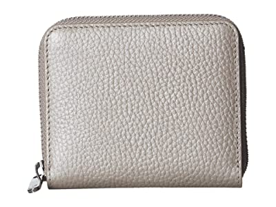 ECCO SP 3 Small Zip Around Wallet (Grey Rose Metallic) Wallet Handbags