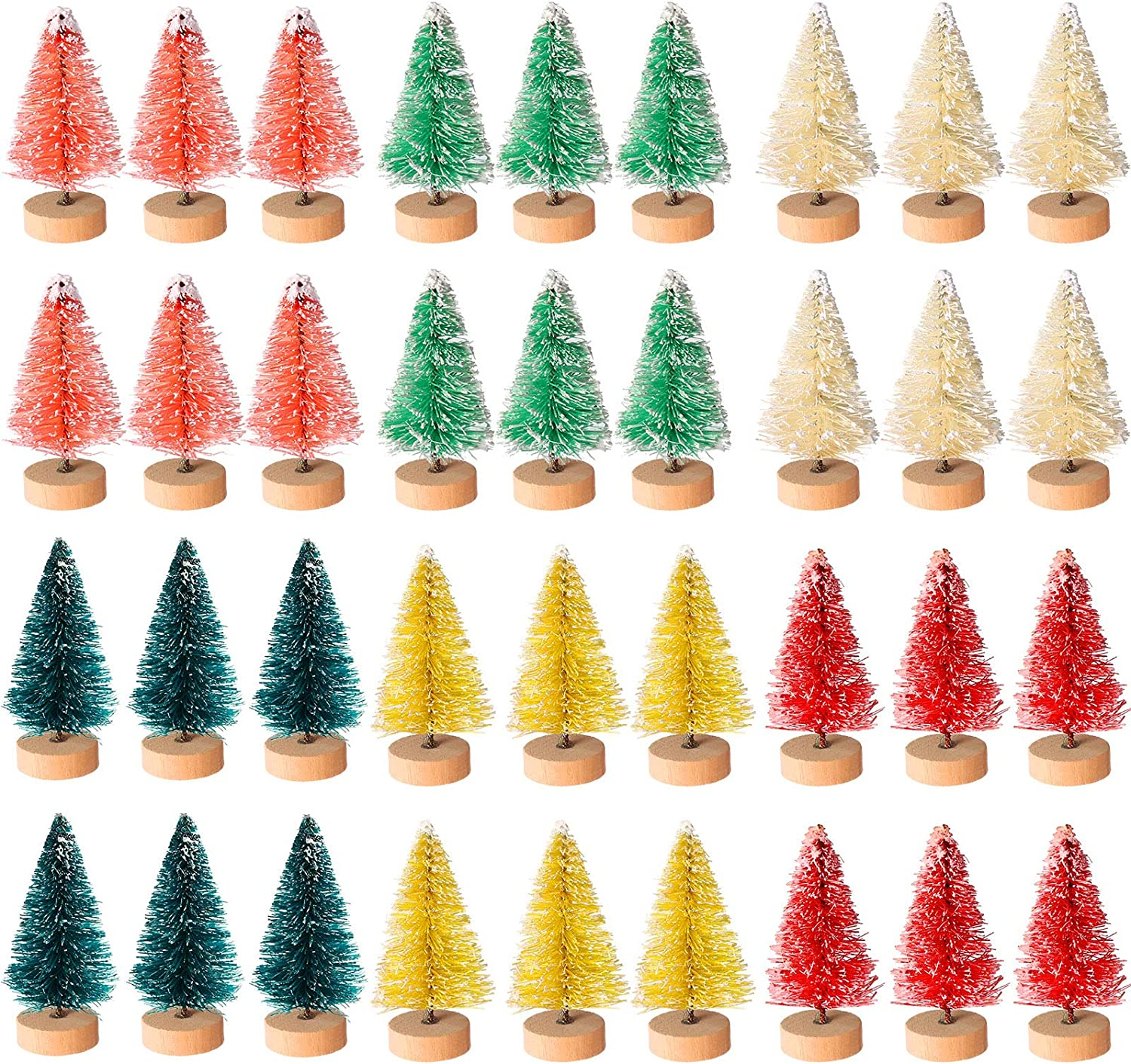 Cholung 48 Pieces Artificial Mini M Lowest price challenge Trees Bottle Opening large release sale Christmas Brush