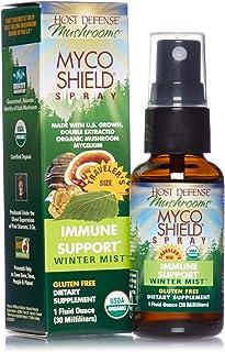 Host Defense, MycoShield Winter Mist Spray, Immune Support, Mushroom Supplement with Turkey Tail, Reishi and Chaga, Vegan,...