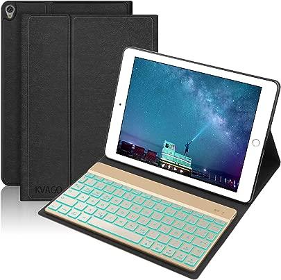 KVAGO Tastatur H lle Kompatibel mit Neu iPad Air 2019 und iPad pro 10 5 2017  Bluetooth Tastatur mit Hintergrundbeleuchtung  QWERTZ Layout   Auto Schlaf Aufwach H lle f r iPad 10 5 Zoll  Schwarz