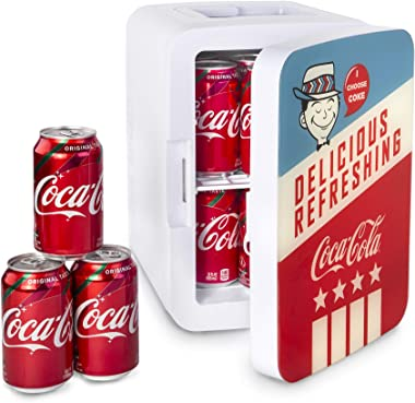 Cooluli K10LGA Mini Fridge Coca-Cola Americana Retro (10 Liter/12 Can) Portable AC/DC Powered Cooler and Warmer