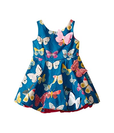 fiveloaves twofish Butterfly Fashionista Dress (Toddler/Little Kids) (Blue) Girl