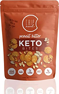 ChipMonk Keto Cookie Bites - Keto Snacks with Zero or Low Carb, Gluten-Free Keto Cookies, Nutritious, High Fat, Protein, Low Sugar Dessert Snack Foods for Ketogenic Diet or Diabetics, Macro Nutrition - 1 Pouch - 8 Bites