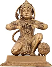 Religious Brass Statue Hanuman Monkey God Hindu Idol for Puja 8.75 inch,2.8 Kg