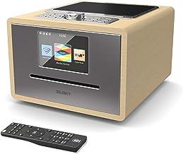Majority Homerton Radio por Internet Wi-Fi - Reproductor de CD, Control Remoto, Dab/Dab+ /FM Digital, Bluetooth, Alarma Doble, Entrada AUX y USB, Control de Aplicaciones (Roble)
