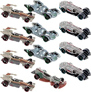 Hot Wheels Star Wars (12 Pack) Carship Toys for Kids Adults Die-Cast Cars Set Millennium Falcon & More