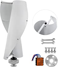 Pamico Wind Turbine 400W 12V Windmill Generator Kit Vertical Sprial Eolic Generator with a Controller for Home Marine Industrial Energy