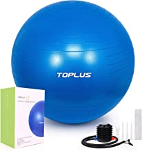 TOPLUS Exercise Ball (Multiple Sizes) Thick Yoga Ball Chair for Fitness, Stability, Balance, Pilates - Anti Burst Supports 2200lbs - Includes Quick Pump & Professional Guide