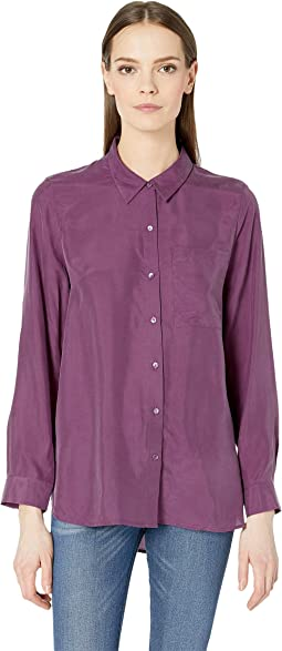 0adb8547821 New. Currant. 4. Eileen Fisher. Classic Collar Shirt