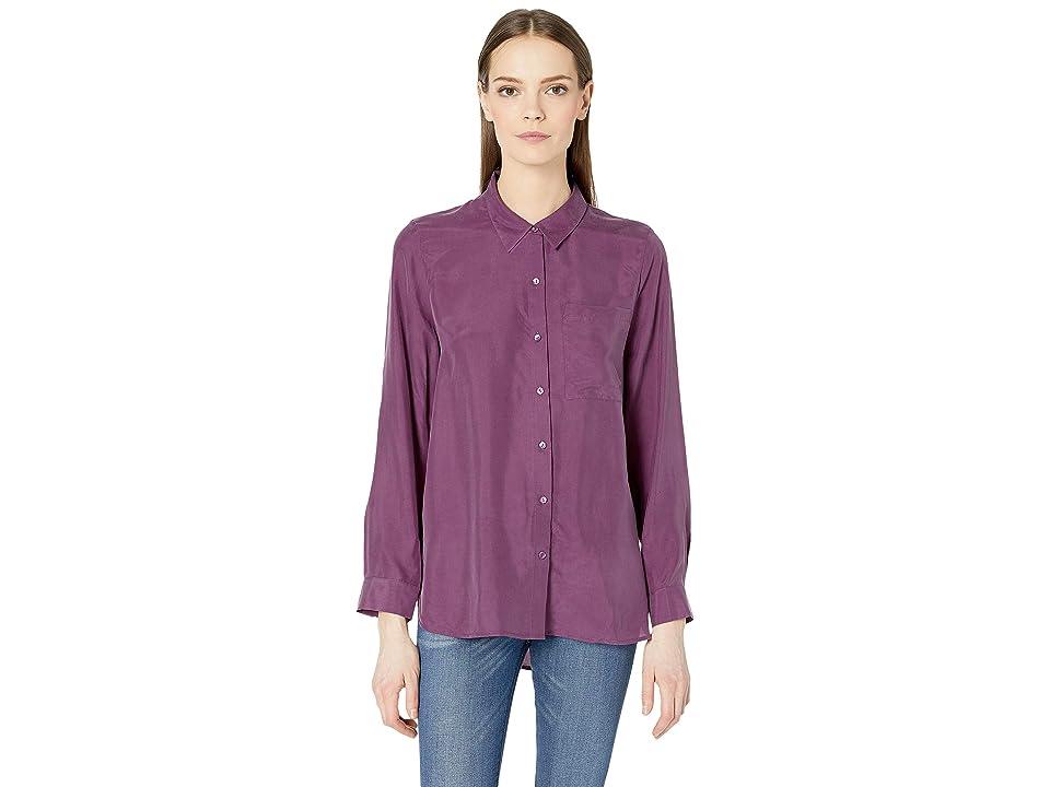 Eileen Fisher Classic Collar Shirt (Currant) Women