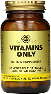 Solgar Vitamins Only Vegetable Capsules, 60 Count