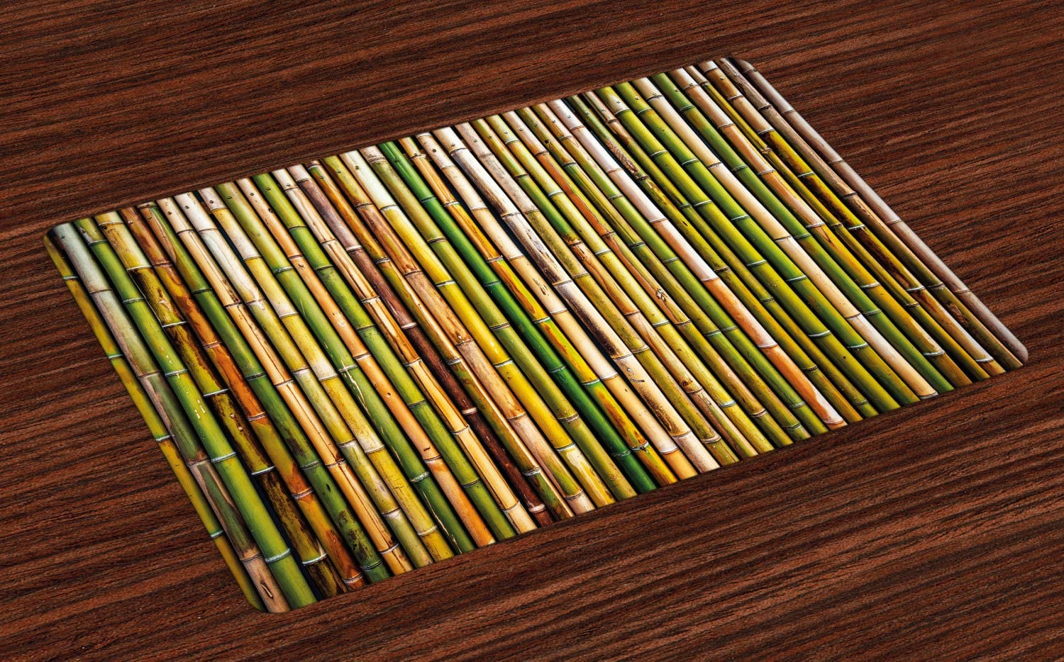 Lunarable Fence Place Mats Set of 4 Ranking TOP17 in Tightly Bamboo price a Sticks