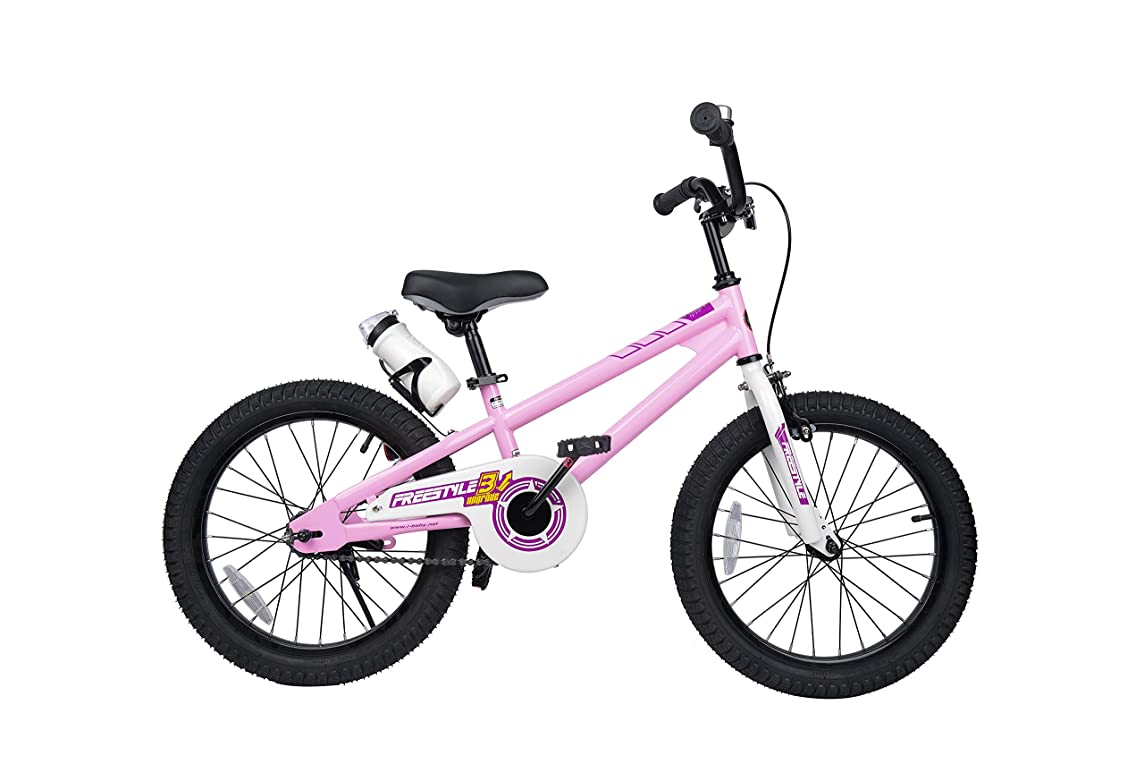RoyalBaby?Freestyle?Kid's?Bike for Boys?and?Girls, 12 14 16?inch?with?Training?Wheels,?16 18 20?inch?with?Kickstand, in?Multiple Colors