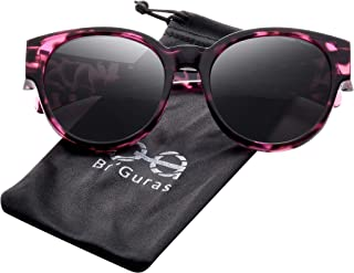 3a19adc46 Br'Guras Polarized Oversized Fit over Sunglasses Over Prescription Glasses  with Cat Eye Frame for