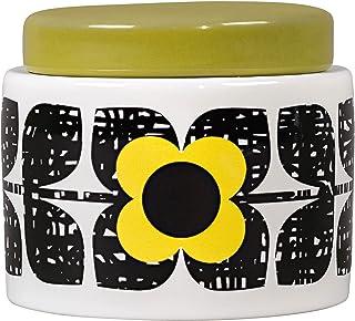 Orla Kiely Scribble Square Flower Small Storage Jar, Sunshine
