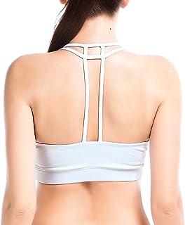 fd9e2182f481a YIANNA Women s Padded Sports Bra Cross Back High Impact Workout Running  Yoga Bra