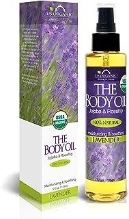 US Organic Body Oil - Elegant Lavender - Jojoba and Rosehip Oil with Vitamin E, Certified Organic, No Alcohol, Paraben, Ar...