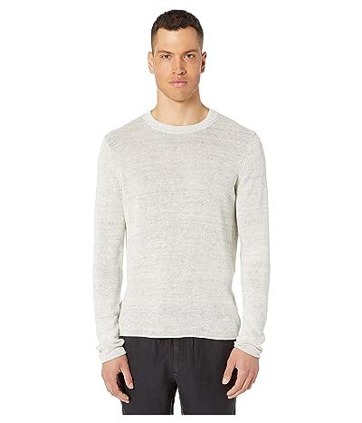 Vince Crew Neck Sweater (Heathered White) Men