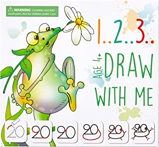 MD CREATIVE 123 Draw with Me Learn How to Draw Animals Step by Step Birthday Present for Preschoolers and Kids Ages 3 4 5 ...