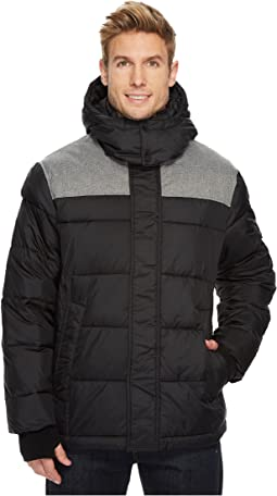 Ultra Warm Insulated Mixed Media Puffer Jacket