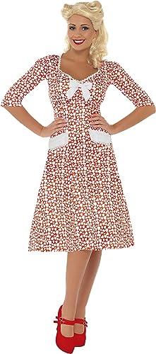 mejor servicio Smiffy's - - - Disfraz de de la segunda guerra mundial para mujer, Talla L (39384L)  Entrega gratuita y rápida disponible.