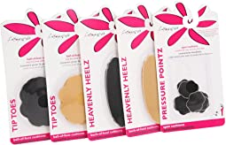 Foot Petals - Tip Toes (2 pairs), Heavenly Heels (2 pairs), and Pressure Points (3 pairs) Pack