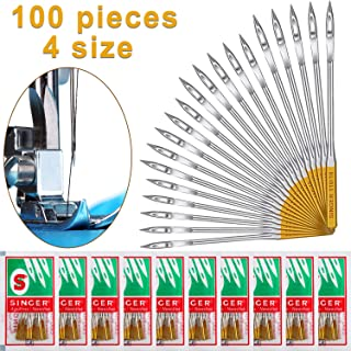 100 Pieces Sewing Needles for Home Sewing Machine, Sewing Machine Needles, Regular Point Compatible with Singer, Brother and Old Sewing Machine, Sizes in 11, 14, 16, 18