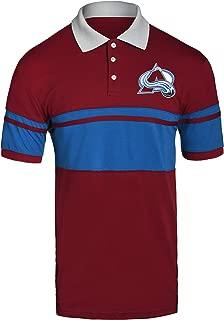 FOCO NHL Colorado Avalanche Mens Stripe Polo ShirtStripe Polo Shirt, Team Color, XL