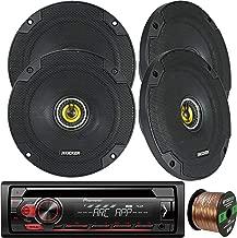 EnrockAudio Pioneer DEH-S1100UB Single-DIN CD Player AM/FM Car Stereo Receiver, 4 x Kicker CS-Series CSC5 5.25