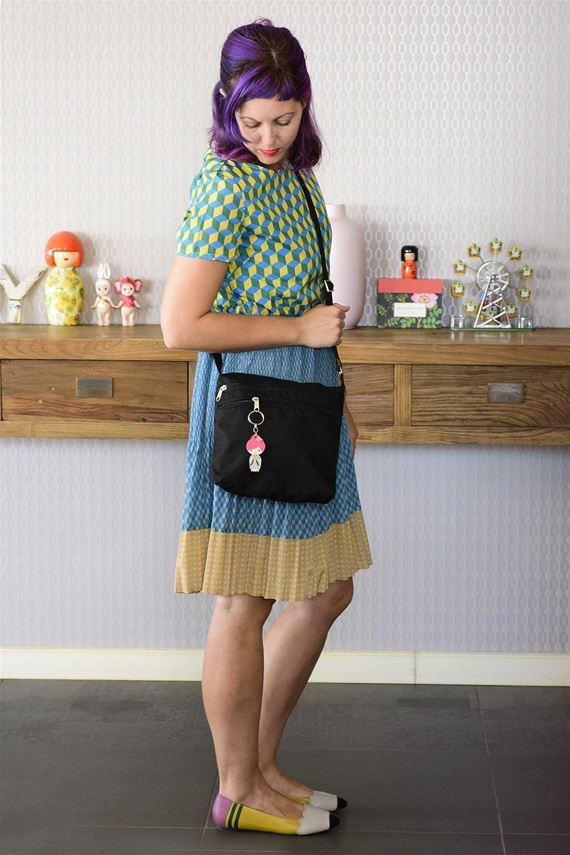 Handmade Designer Black Canvas favorite Mini Bag Messenger Fabric Crossb New sales