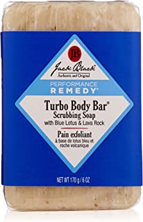 Jack Black - Turbo Body Bar Scrubbing Soap, 6 oz - Men's Soap with Blue Lotus and Lava Rock