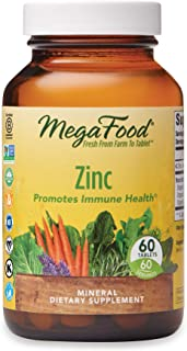 MegaFood, Zinc, Immune Health Support, Mineral and Dietary Supplement Vegan, 60 Tablets (60 Servings) (FFP)