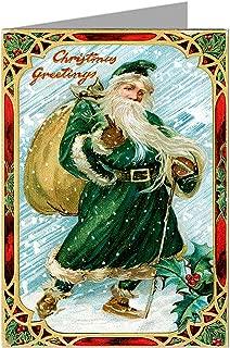 Assorted-2 Victorian Santas Christmas Holiday Vintage Greeting Cards Boxed Set