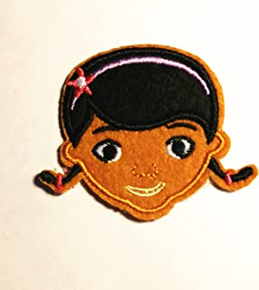 small doc mcstuffins head iron on/ sew on Embroidered patch