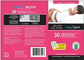 Akira Revive Ultra-Thin Wax Strips. Single use with Aloe Vera and Vitamin E. 30 Large.