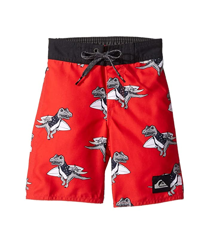Quiksilver Kids Everyday Dinos 14 Boardshorts (Toddler/Little Kids) (High Risk Red) Boy