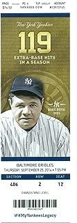Derek Jeter Last Game at Yankee Stadium New York Yankees vs. Baltimore Unused Ticket 9/25/2014 - Jeter New York Yankees Memorabilia